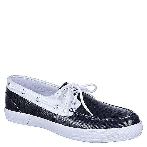 Polo Ralph Lauren Mens Lander Madras Boat Shoes Navy