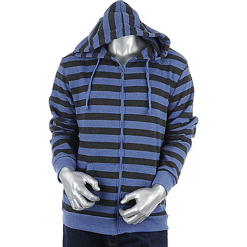 Shiekh Mens Striped Fleece Hoodie