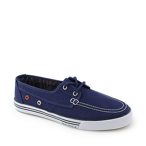Nautica Mens Moc Toe Canvas Lace