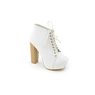 Shiekh 9701-18 womens ankle boot :  white booties lace up boots ankle boots high heel boots