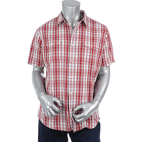 Hurley Mens Combo Short Sleeve Woven Shirt