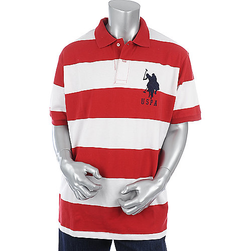 U.S. Polo Association Mens Stripe Polo