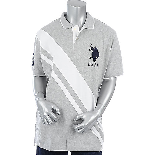 U.S. Polo Association Mens Cross Stripe Polo