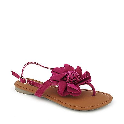 Anna Bonnie-57 Fuschia T-Strap Sandals