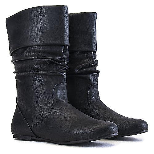 Wild Diva Kalisa-27 Black Mid-Calf Boots