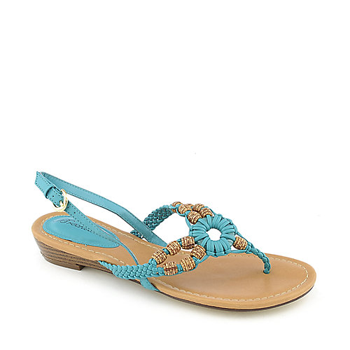 Breckelle's Ginny-04 Turquoise Slingback Sandals