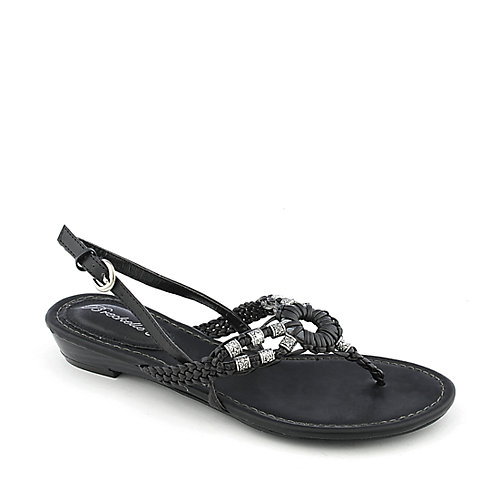 Breckelle's Ginny-04 Black Slingback Sandals
