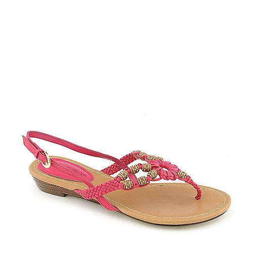 Breckelle's Ginny-04 Fuschia Slingback Sandals