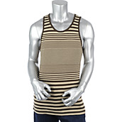 Mens Striped Tank Top