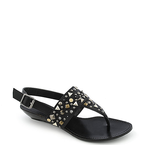Bamboo Dalinda-01 Black T-Strap Sandals