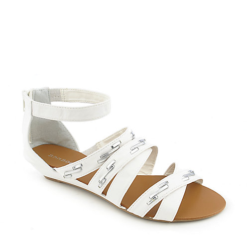 Bamboo Denisa-99 White Gladiator Sandals