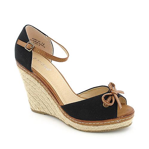 Bamboo Pinot-04 Wedge Sandals Black