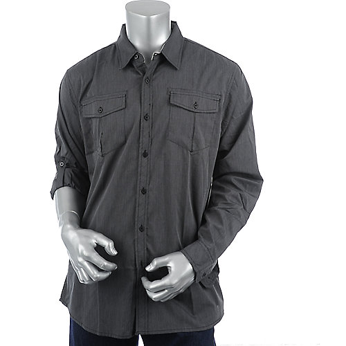 Shiekh Mens Long Sleeve Woven Shirt