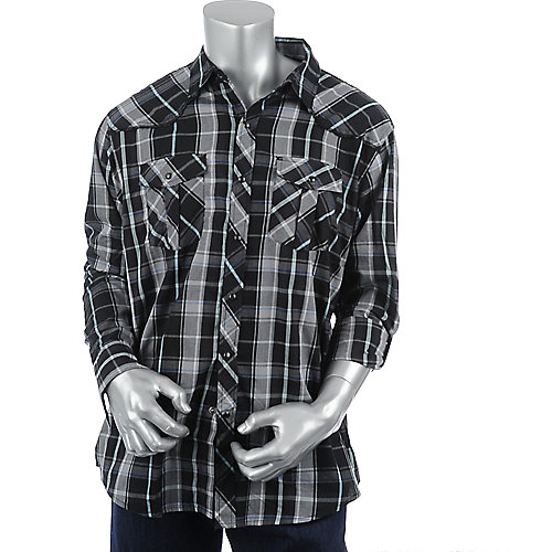 Shiekh Mens Plaid Woven Shirt