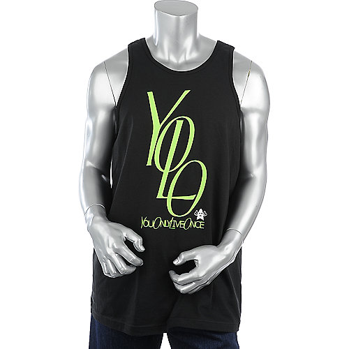 Shooting Star Clothing Mens Yolo Stacked Tank