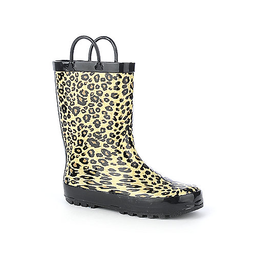 Shiekh S Rain Boots Youth Leopard