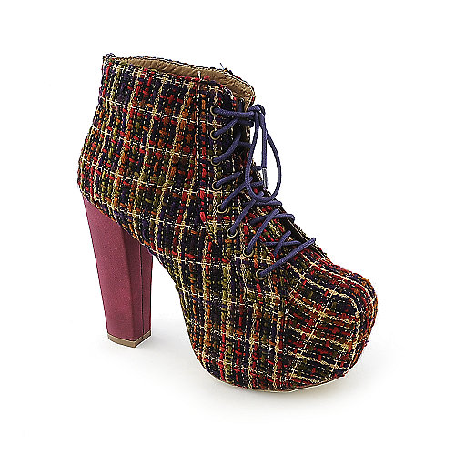 Shoe Republic LA Platform Ankle Booties Silla Multi-Color Platform Boots