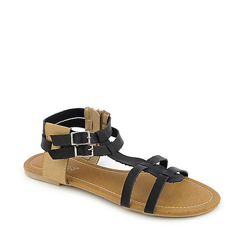 Bamboo Sherin-02 Black Gladiator Sandals
