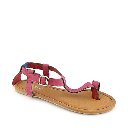 Bamboo Sherin-04 Fuschia Flat Sandals
