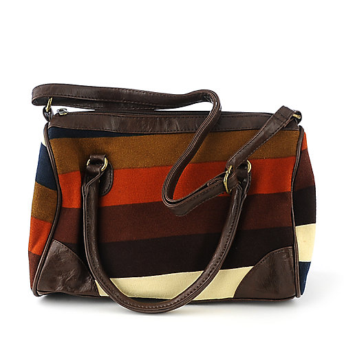 Elleven K Striped Knit Satchel