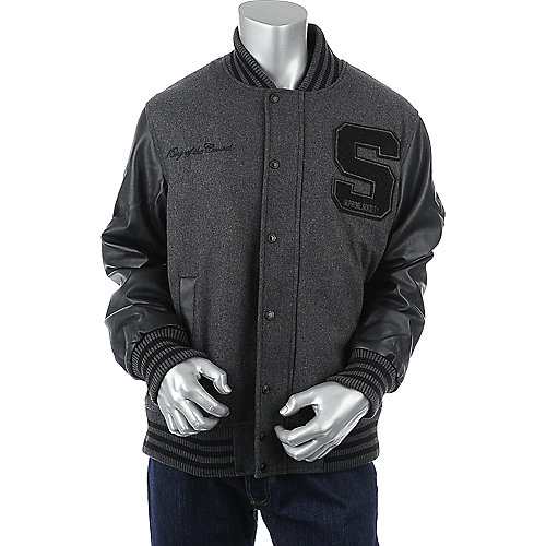 Supreme Society Mens King of the Crowd Letterman Jacket