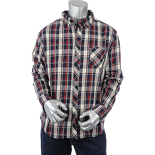 Supreme Society Mens Long Sleeve Plaid Shirt