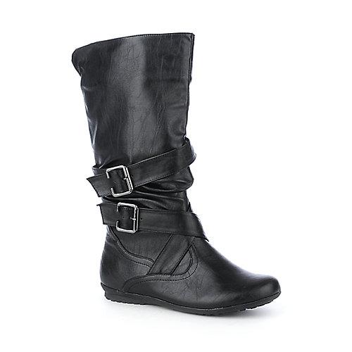 Bamboo Womens Herbie-02 Black Mid-Calf Boots