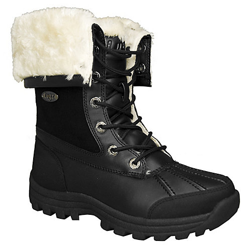 Lugz Womens Tambora Black Combat Boots