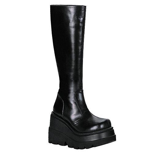 Demonia Platform Boots Shaker Black Costume Shoes