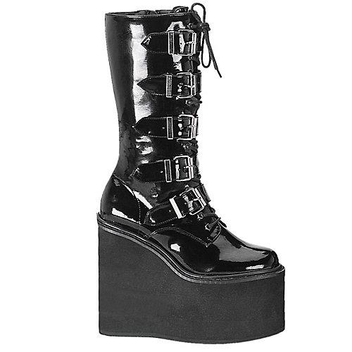 Demonia Swing 5 Buckle Black Costume Shoes