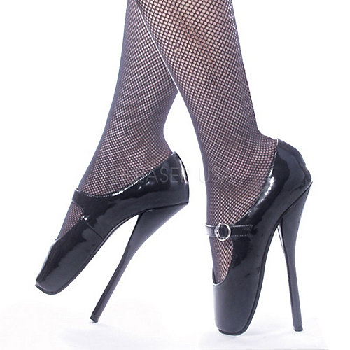 Devious Ballet Maryjane Black Costume Shoes