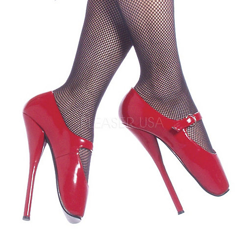 Devious Ballet Maryjane Red Costume Shoes