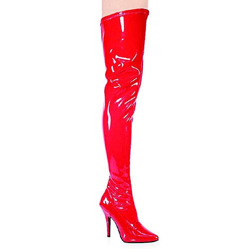 Pleaser Womens Seduce-3000 Red Thigh-High Boots