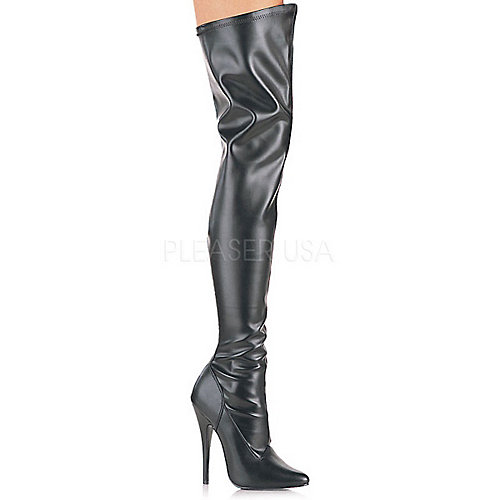 Pleaser Thigh-High Boots Domina-3000 Black