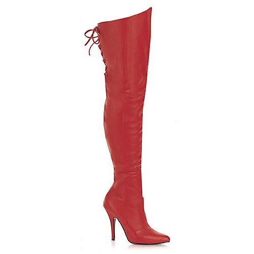 Pleaser Womens Legend-8899 Red Thigh-High Boots