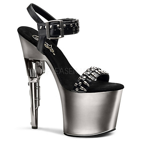 Pleaser Bondgirl-712 Pewter