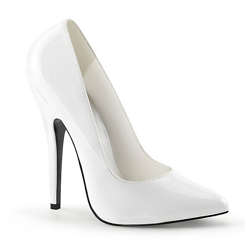 Pleaser Domina-420 High Heel White