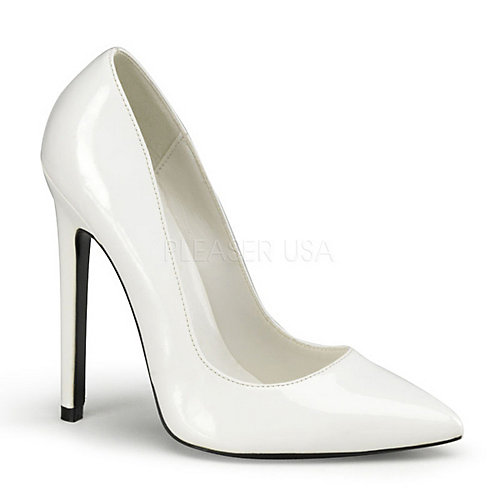 Devious Sexy-20 White Costume Shoes