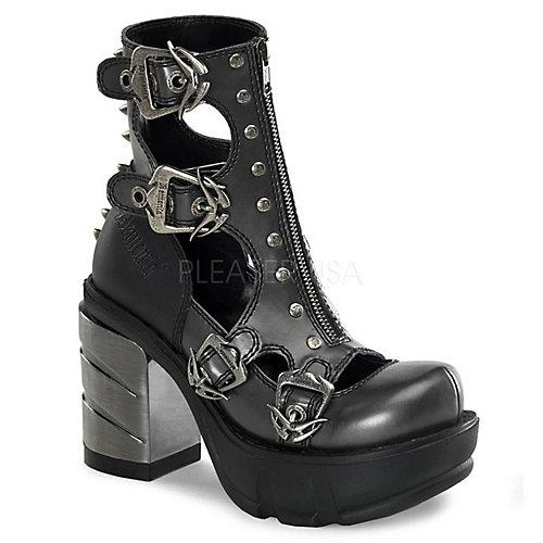 Demonia Sinister-61 Black Platform Boots
