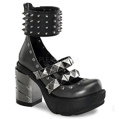 Demonia Sinister-62 Grey Costume Shoes