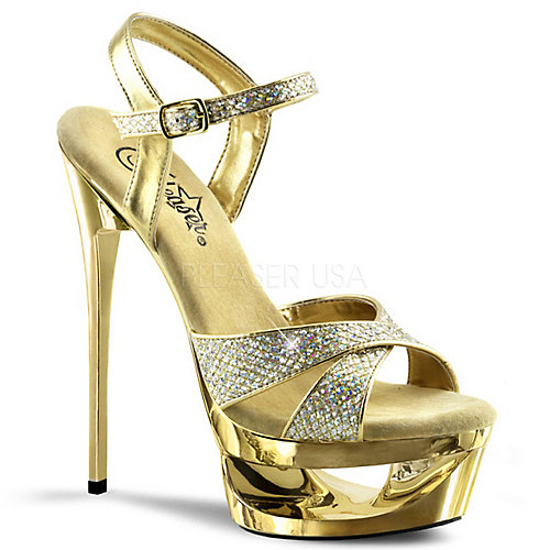 Pleaser Eclipse-619G Gold