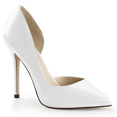Pleaser Amuse-22 High Heel Dress Shoe White