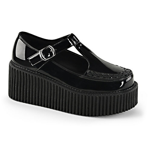 Pleaser Creeper-214 Black