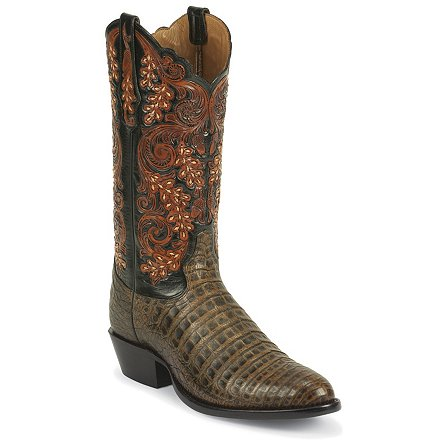 Tony Lama Pecan Belly Antique Caiman