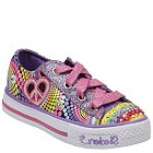 Skechers Lights- Shuffles - Heart Sparks(Toddler/Youth) - 10194L-BMLT