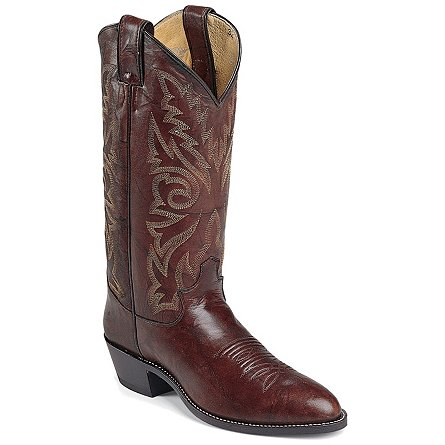 Justin Boots Western Dark Brown Marbled Deerlite