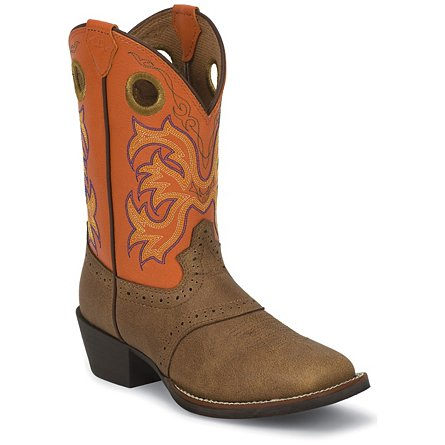 Justin Boots Stampede™ Tan Dakota W/Perfed Saddle
