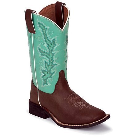 Justin Boots Western Chocolate Burnished