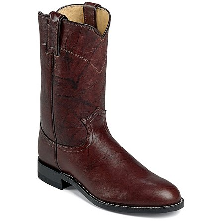 Justin Boots Ropers Dark Brown Marbled Deerlite
