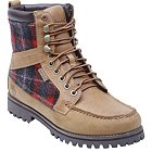Timberland Newmarket 9-Eye Moc Toe Leather with Woolrich Fabric - 43582